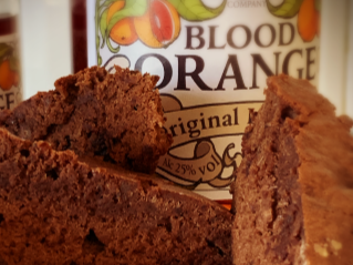 Blood Orange Chocolate Brownie Cake
