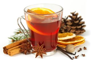 Damson or Sloe Mulled Wine